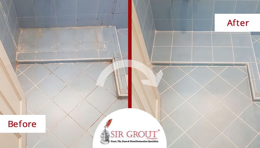 Learn How Our Tile And Grout Cleaners Completely Spruced Up This Bathroom  In Singapore